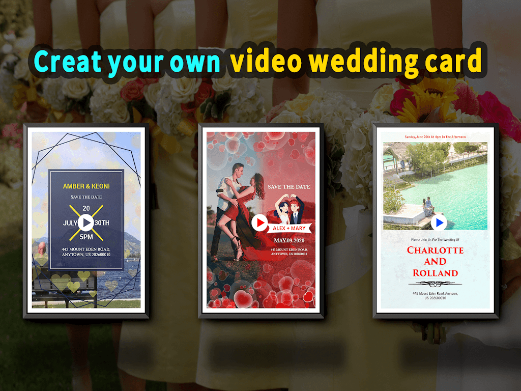 Wedding Card Design & Photo Video Maker With Music  poster 16