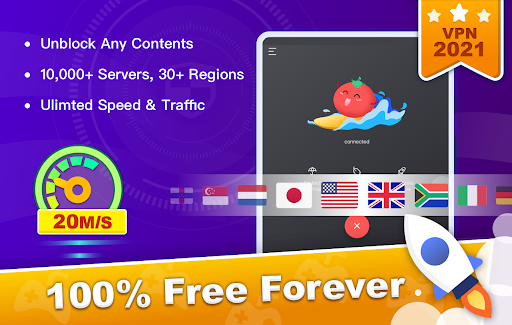 Free VPN Tomato | Fastest Free Hotspot VPN Proxy 2.6.500 screenshots 6