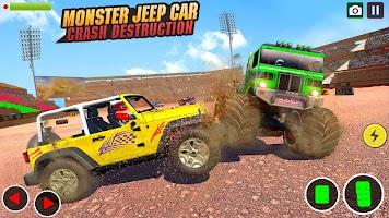 Prado Jeep Car Destruction: Demolition Derby Games