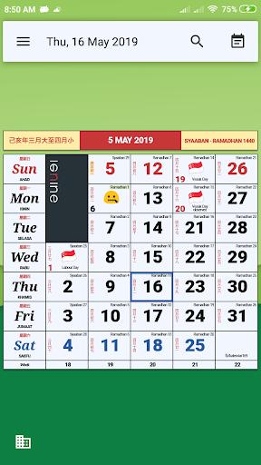 Monthly Calendar & Holiday 1.2.0 Screenshots 7