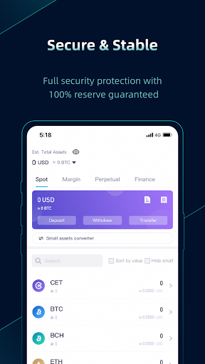 CoinEx - A Trustworthy Cryptocurrency Exchange android2mod screenshots 5