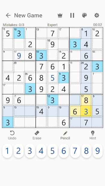 Captura 4 de Killer Sudoku - Free Sudoku Puzzles+ para android