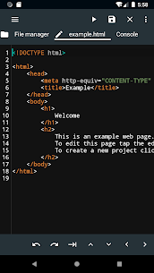 WebCode – ide for html, css and javascript 1