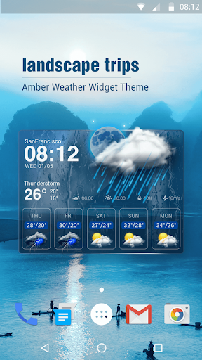 free weather widget pro. screenshot 1