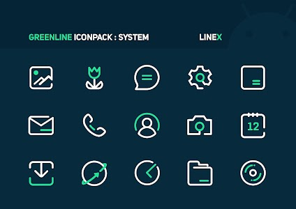 GreenLine Icon Pack : LineX 3.1 (Patched)