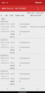 Time Recording - Timesheet App Screenshot