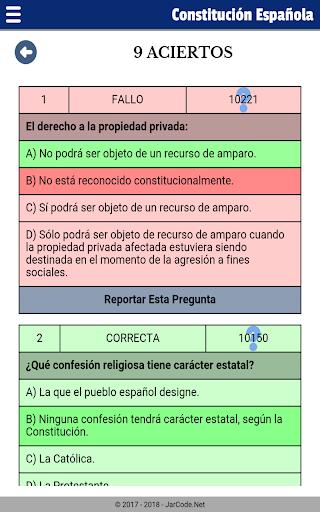 Tests oposiciu00f3n constituciu00f3n Espau00f1ola apktram screenshots 15
