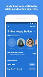 Spotify Stations: Streaming radio & music stations Screenshot