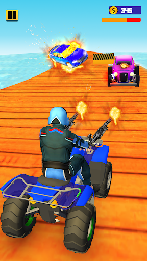 Quad Bike Traffic Shooting Games 2020: Bike Games 3.1 screenshots 4