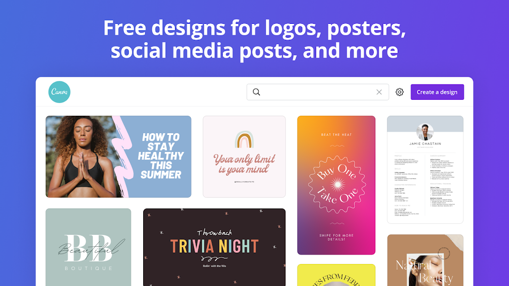 Canva: Graphic Design, Video Collage, Logo Maker poster 10