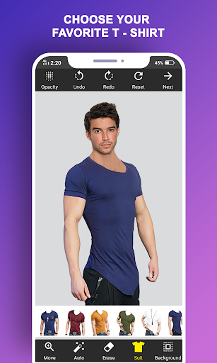 Man T-Shirt Suit Photo Editor modavailable screenshots 3