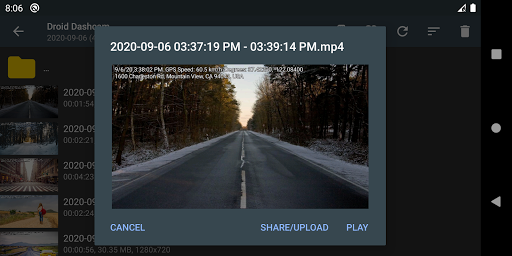 Droid Dashcam - Driving video recorder, BlackBox 1.0.74 Screenshots 5