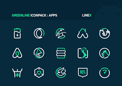 GreenLine Icon Pack : LineX