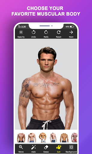 Body Builder Photo Suit (Six pack abs editor) android2mod screenshots 2