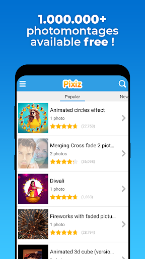 Pixiz - Photo montage & Collage photo screen 0