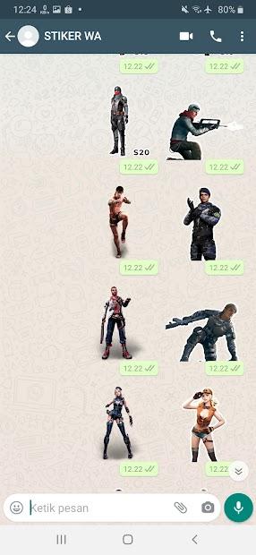 Screenshot 22 de Sticker WA Free Fire FF Emote 2021 WAStickerApps para android
