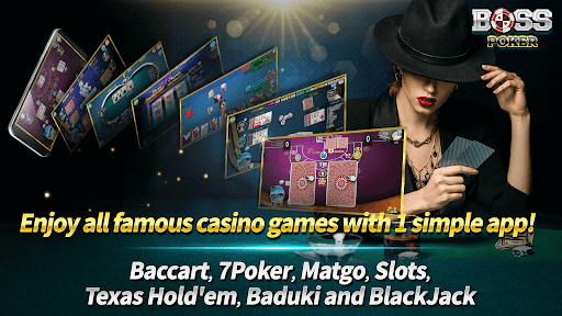 Boss Poker u2013 Texas Holdem Blackjack Baccarat Apkfinish screenshots 3