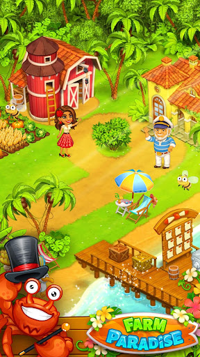 Farm Paradise - Fun farm trade game at lost island apklade screenshots 1