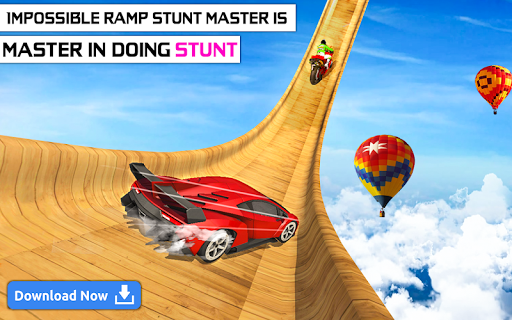 mega ramp car stunts - multiplayer car games 2021 screenshot 2