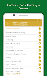 Financial and Banking Terms Offline Dictionary Screenshot