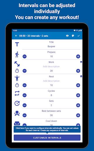 Tabata Timer: Interval Timer Workout Timer HIIT 5.2.1 Screenshots 22