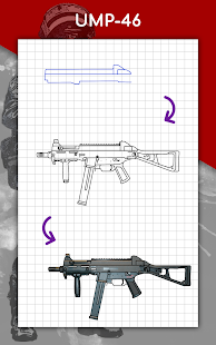 How to draw weapons step by step, drawing lessons 1.6.4 Screenshots 24