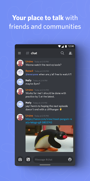 Discord - Talk, Video Chat & Hang Out with Friends Android App Screenshot