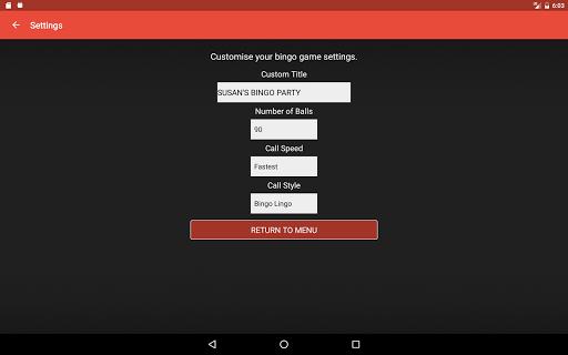 Bingo Caller Machine (free Bingo Calling App)  Screenshots 15