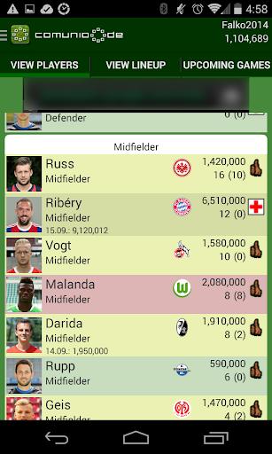 Comunio 1.11.67 screenshots 3