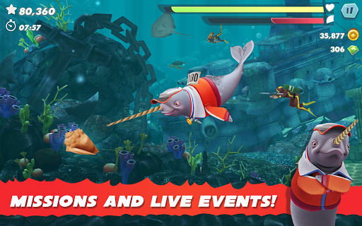 Hungry Shark Evolution - Offline survival game  screenshots 13