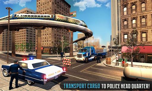 Police Train Shooter Gunship Attack : Train Games  Screenshots 1