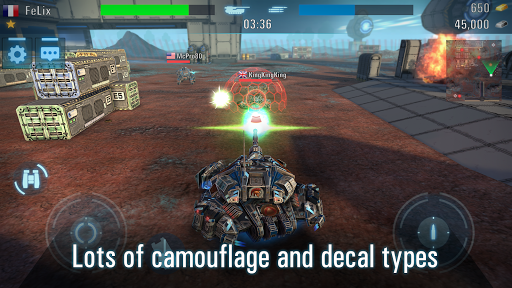 Robots VS Tanks: 5v5 Tactical Multiplayer Battles apktram screenshots 4