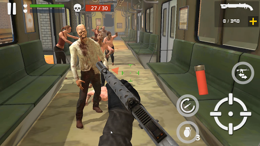 Télécharger Dead Zombie Battle (Green Blood Version) APK MOD (Astuce) screenshots 2