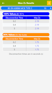 Max Zs Values Screenshot