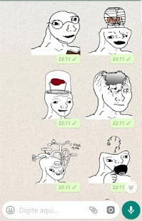Stickers Meme Brainlets WAStickerApps Screenshot