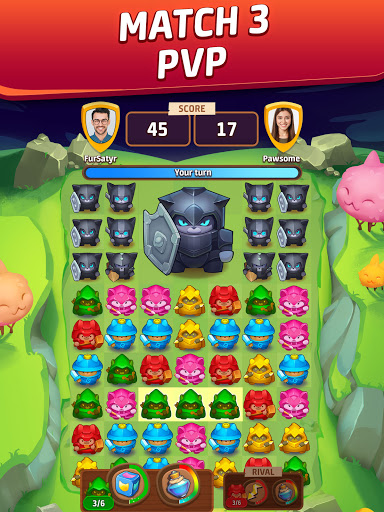 Cat Force - PvP Match 3 Puzzle Game  screenshots 7