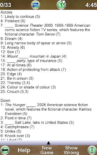 Barred Crossword 3.0.3 screenshots 21