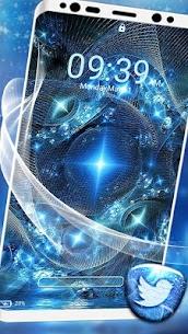 Blue Fractal Art Launcher Theme 3
