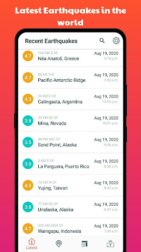 Earthquake Alerts 1.0.4 Screenshots 2