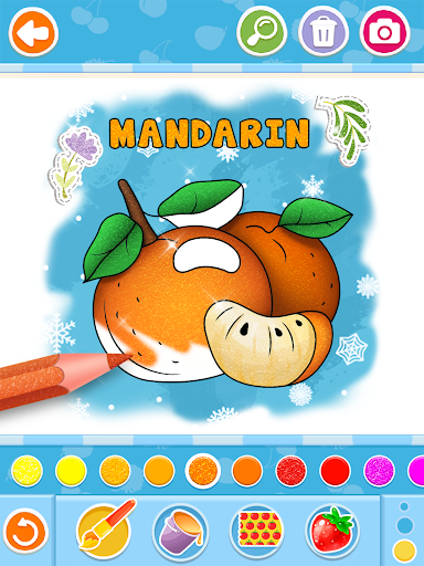 Fruits and Vegetables Coloring Game for Kids  screenshots 14