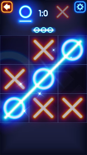 Code Triche Glow Tic Tac Toe (Astuce) APK MOD screenshots 2
