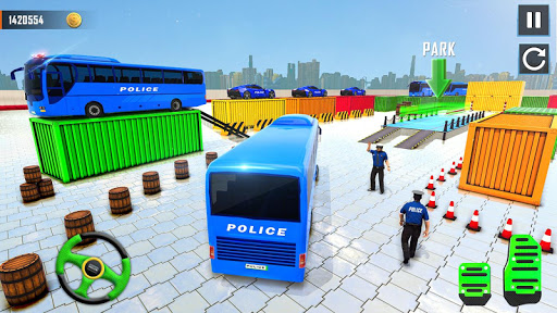 Police Bus Parking Game 3D - Police Bus Games 2019  screenshots 6