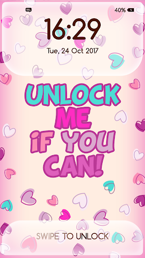 Girly Lock Screen Wallpaper with Quotes 4.4 Screenshots 2
