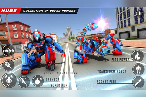 Scorpion Robot Transforming u2013 Robot shooting games  screenshots 3