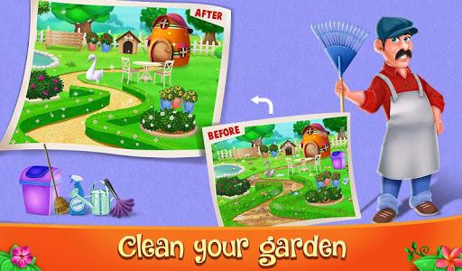 Code Triche Décoration de jardin et jeu de nettoyage (Astuce) APK MOD screenshots 5