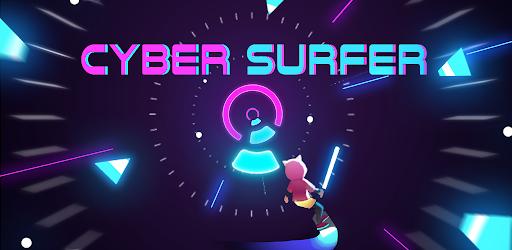 Cyber Surfer: EDM & Skateboard & Coloring Game  screen 0