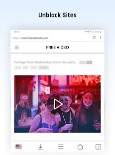 Free VPN Proxy Video Download Browser for Android. Screenshot