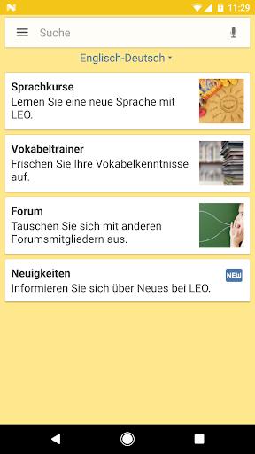LEO dictionary 7.1.10 screenshots 1