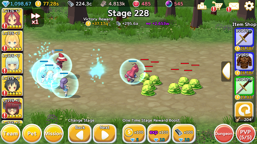 Super Girl Wars: Auto-play RPG 1.76 screenshots 3