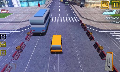 blocky highway roads racer 3d screenshot 2